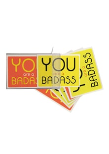 You Are a Badass Notecards